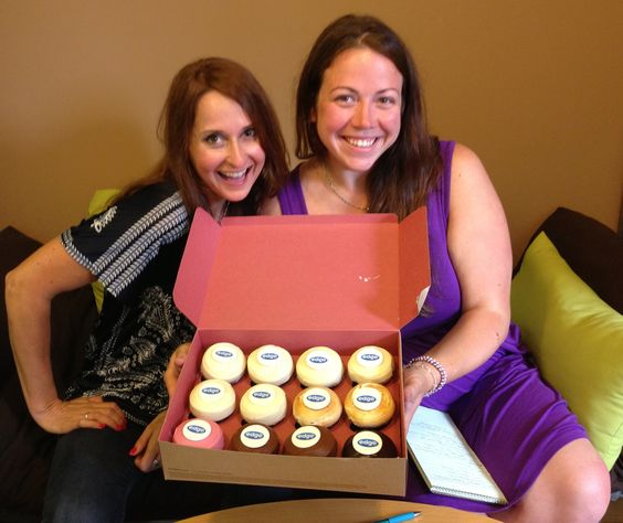 Yet another bonus to working with Edge Studio...personalized Sprinkles cupcakes! (As well as the opportunity to work with our lovely Marketing Director Leanne Linsky and Production Manager Kristen Thorne!)