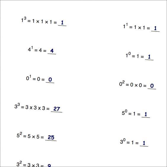 math worksheet : math worksheets at dadsworksheets ! practice worksheets  : Math Worksheets Powers And Exponents
