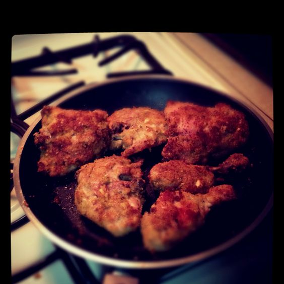 Delicious hot & spicy fried chicken