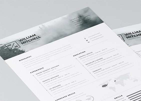 Cool Resumes Fresh, minimalistic design Resume Pinterest - free resume maker and print