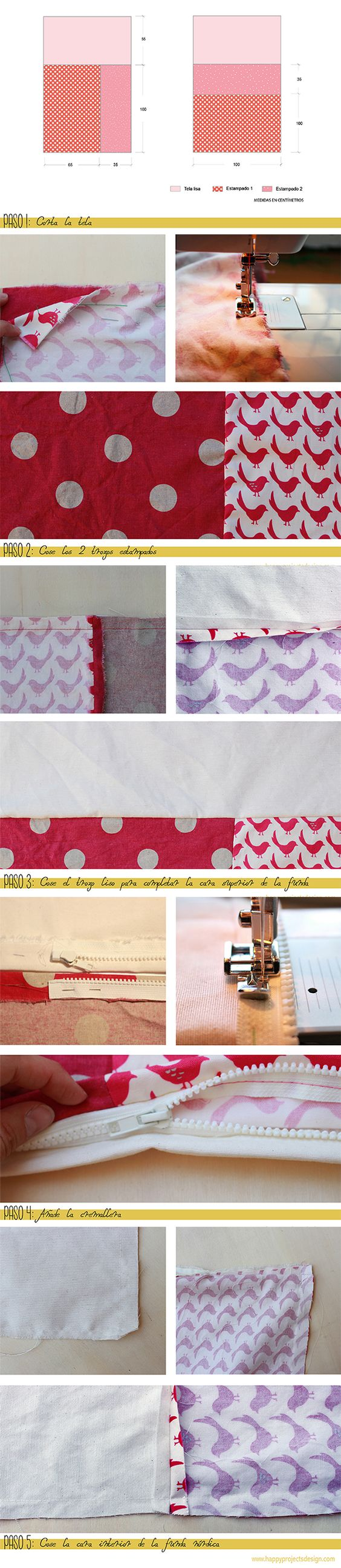 #tutorial funda nórdica #DIY #costura