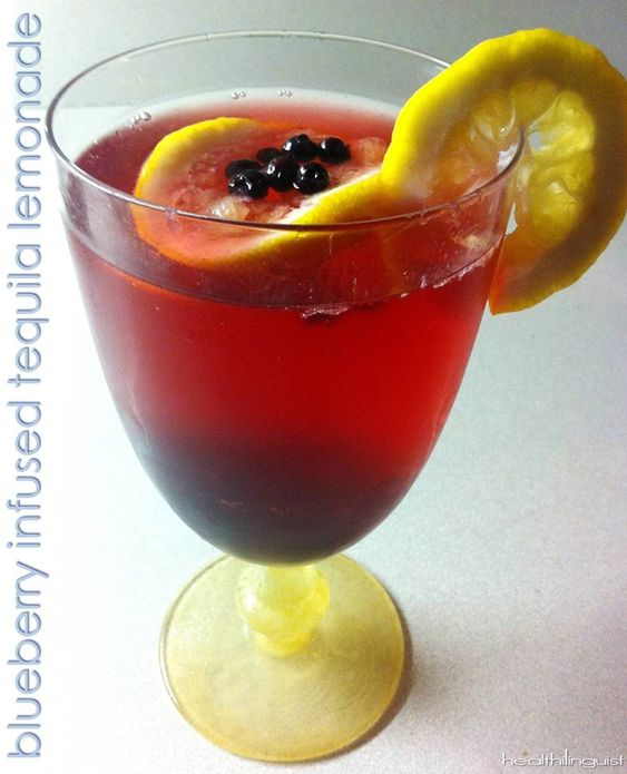 Blueberry Infused Tequila Lemonade  #Healthilinguist