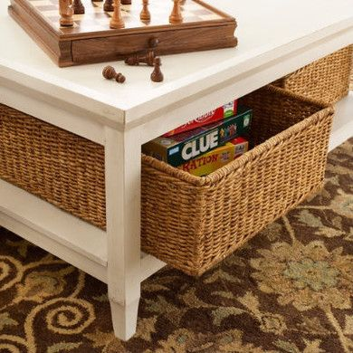 Pinterest the world s catalog of ideas for Coffee table with storage baskets