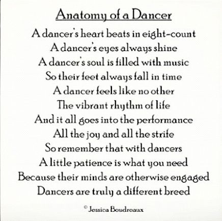 Anatomy of a dancer