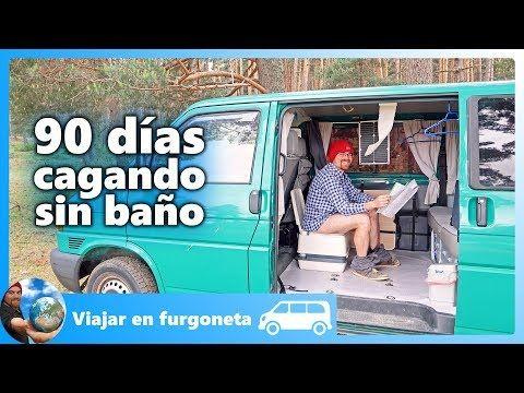 Viajar En Furgoneta Camper Cagar En Un Wc Quimico Portatil
