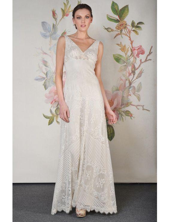 KleinfeldBridal.com: Claire Pettibone: Bridal Gown: 32780066: Sheath: Empire Waist
