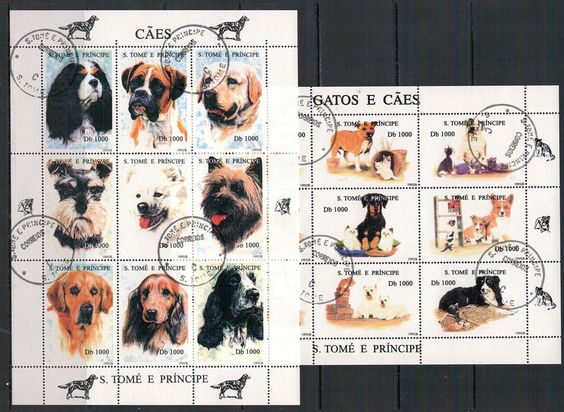 Sao Tomé und Principe, Hunde und Katzen MiNr. 1571 - 1594, 1995 used