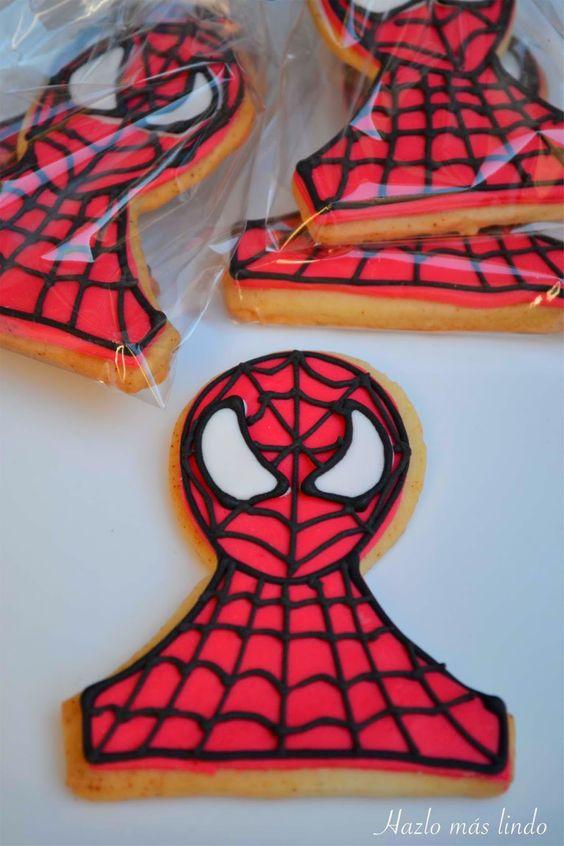 Galletitas Hombre Araña #HombreAraña #CookiesSpiderman