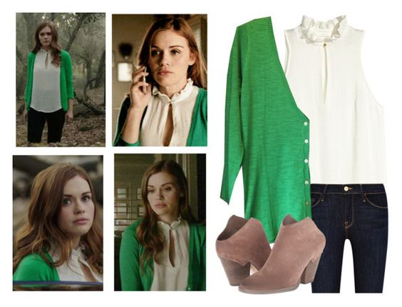 """""""Lydia Martin 5x19 & 5x20"""" by saniday ❤ liked on Polyvore featuring H&M, Frame Denim, Dolce Vita, HM, TeenWolf, LydiaMartin, dolcevita and teenwolfoutfitshoppe"""