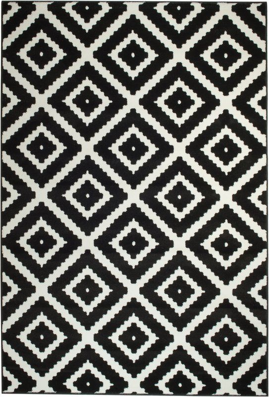 Cheney Black Indoor Area Rug Dining Room White Area Rug