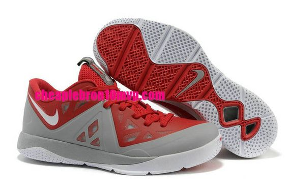 Cheap Lebron ST II Lebron James Shoes 2013 Sport Red Wolf Grey White 579743 600 Cheap Lebron James Shoes