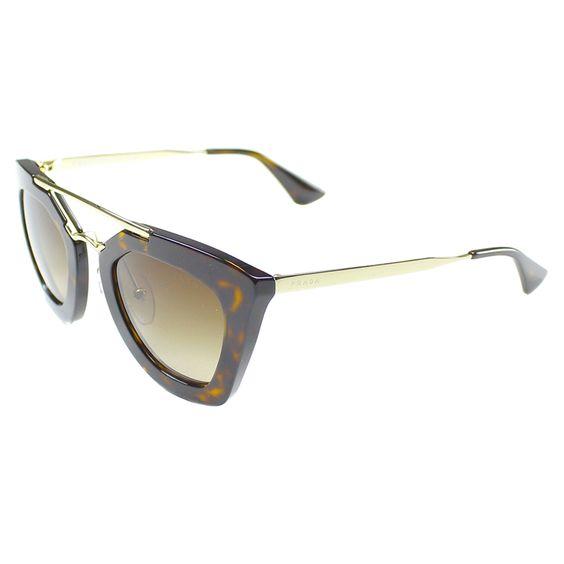 Prada Women's Cinema PR 09QS 2AU6S1 Havana Cat Eye Sunglasses
