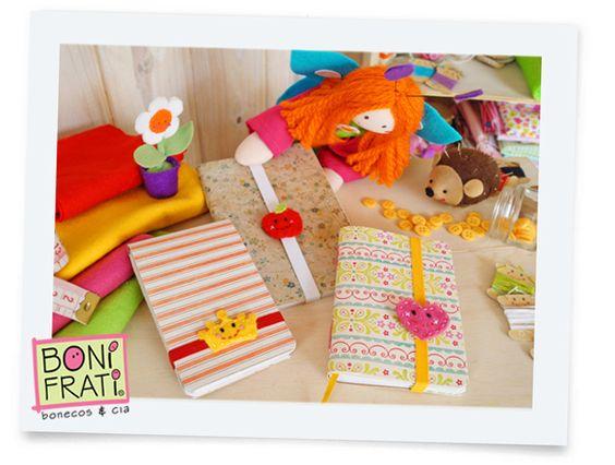 Blog BoniFrati: Tutorial: Elástico personalizado para Cadernos (com molde)