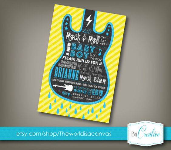 vip passes/ rock and roll baby shower   Request a custom order and have something made just for you.