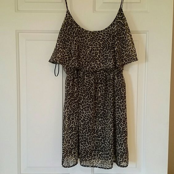 Foreign exchange  animal pattern Dress size small Size small. Runs small too. Short skirt excellent condition Foreign Exchange Dresses