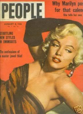 "People - August 8th 1956, magazine from Australia. Front cover publicity photo of Marilyn Monroe for ""The Seven Year Itch"", ca.1954-55."
