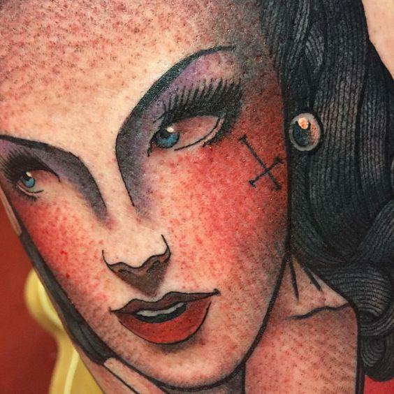 Tattoo by Ian Parkin, Inkslingers tattoo studio England
