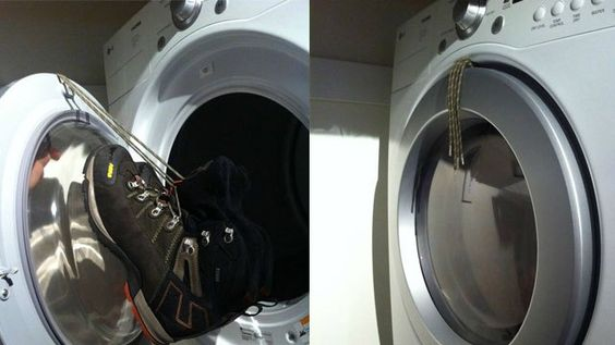 Dry shoes in dryer without the racket
