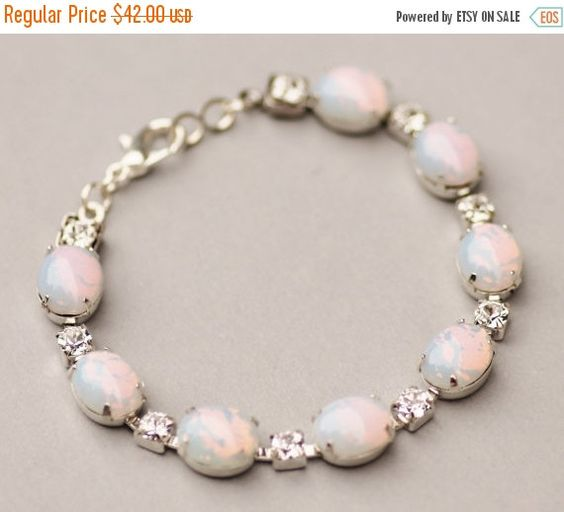 SALE RARE Vintage White Pinfire Opal by hangingbyathread1 on Etsy