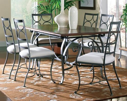 Wrought Iron Dining Table Camino Rectangular Dining Table By