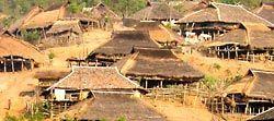 Hill Tribe Village at Myanmar