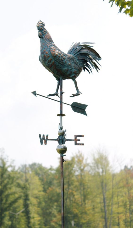 """Features:  -Made from copper.  -Patina copper finish.  Product Type: -Weathervane.  Subject: -Animals.  Overall Height: -18"""".  Overall Width: -5"""".  Overall Depth: -19"""".  Finish: -Patina.  Number of It"""