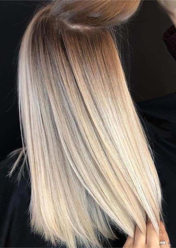 Human Hair Wig Blonde Brown Roots Full Lace Silky Straight In 2020 Hair Styles Balayage Hair Blonde Ombre Hair Blonde