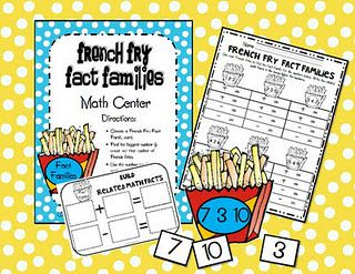 Fact Family Math Center FREEBIE!: