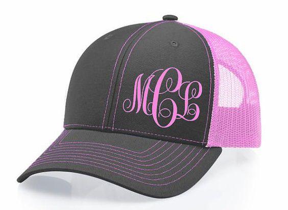 Custom Monogram Snapback Hat Cap Ladies by DecalsThatDazzle