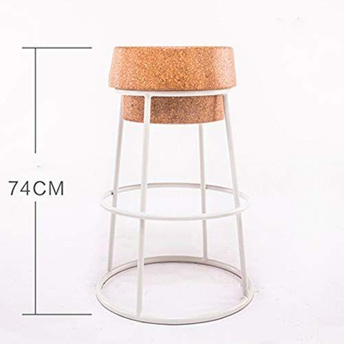 Hdbko Bar Chair Living Room Leisure Chair With Cork Cushion Solid Metal Bar Chair For Restaurant Cafe Kitchen C Bar Chairs Kitchen Home Bar Furniture Metal Bar