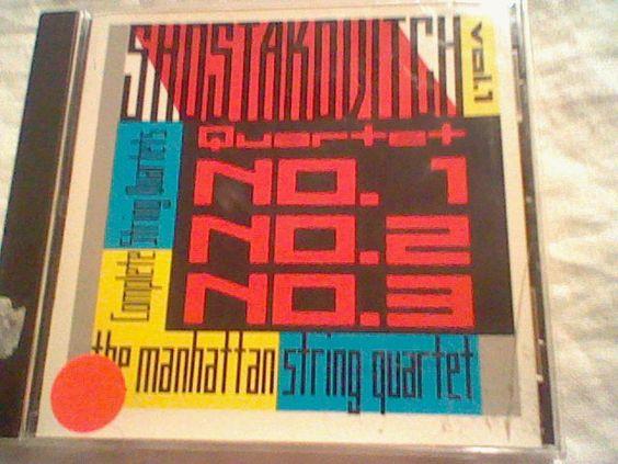 Shostakovich: String Quartets Nos. 1, 2, 3 (CD, Jan-1993, ESS.A.Y.) #Quartet