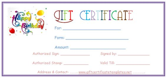 Simple balloons birthday gift certificate template Beautiful - fillable gift certificate template