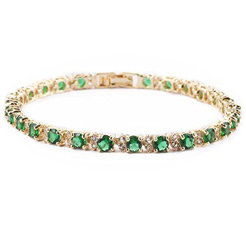 Femmes 18K plaqué or Jade Zircon bijoux turquoise bracelet Femme Nouveau Bracelet