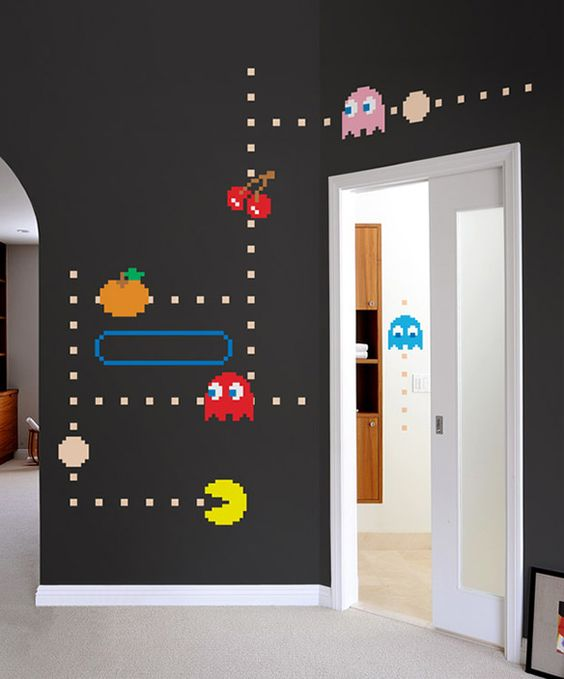 Blik PacMan Wall Decals Game Rooms Kids Rooms And Gaming - Portal 2 wall decals