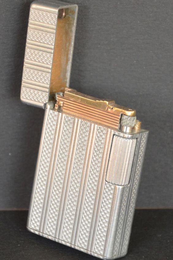 Briquet ST DUPONT Aluminium - 1943/1944 - Essence - Grand Modèle - Fuel Lighter - Feuerzeug - Accendino