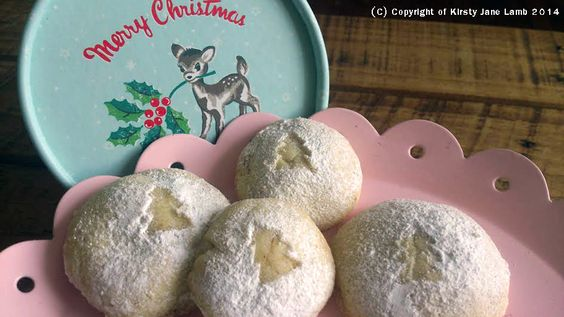Mince shortbread bites! Vanilla shortbread biscuits with a christmas mincemeat filling, dusted with icing sugar - a much lighter, sweeter treat than a mince pie, thus, leaving plenty of room for more munching... x