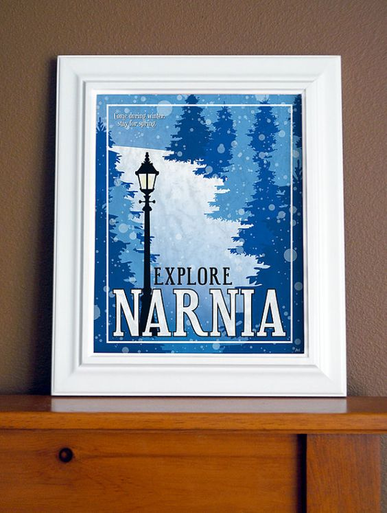 Narnia Travel Poster - Come during winter, stay for Spring.