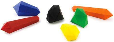 Crystal crayons - set of 6, $8