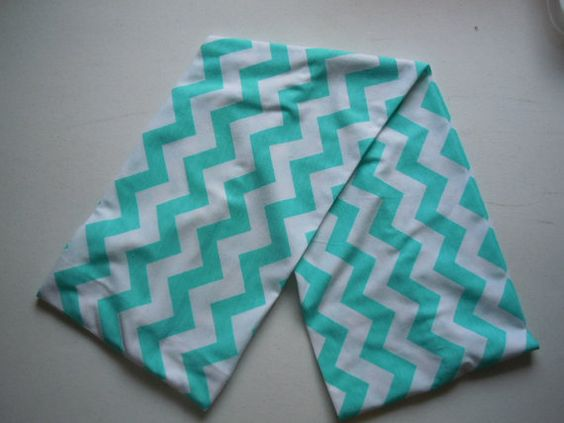 Teal Chevron Jersey Knit Infinity Scarf by TheGreeneThread on Etsy, $10.00