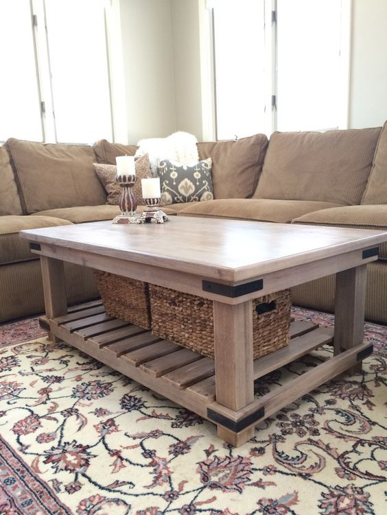 Gray Washed Wold Market Coffee Table Makeover Using Annie Sloan Chalk Paint In French Linen Mr