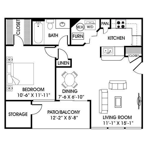 Guest house or small apartment over garage garage for Garage guest house floor plans