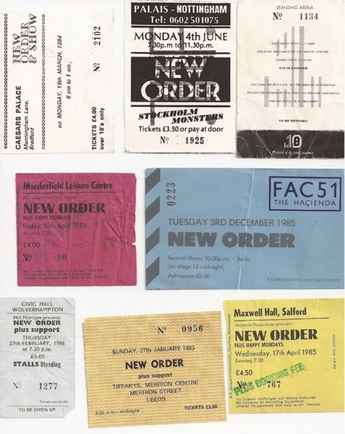 New Order: Favorite Music, Music Junkie, Sydney Awesome, Order Quiz, Musical Matters, Pleasures Vii