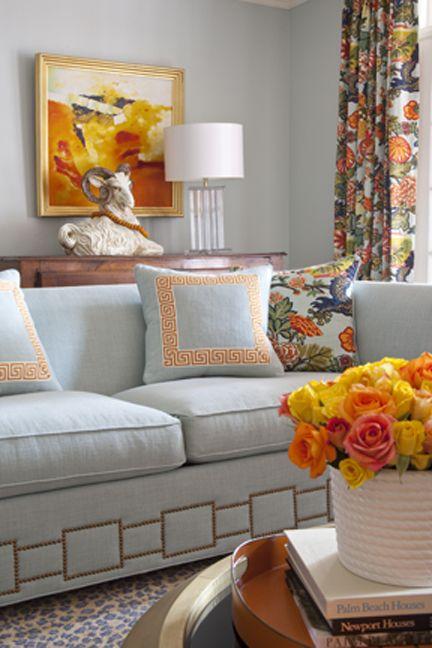 Pinterest the world s catalog of ideas - Grey and orange living room ...