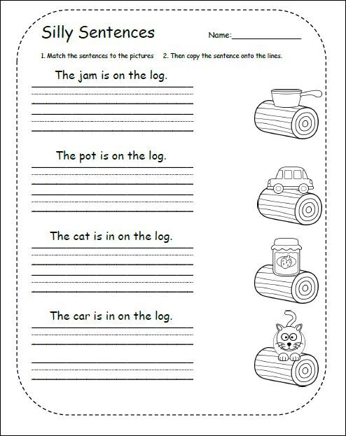 Sentences For Kindergarten And Grade 1 With Images Sentences