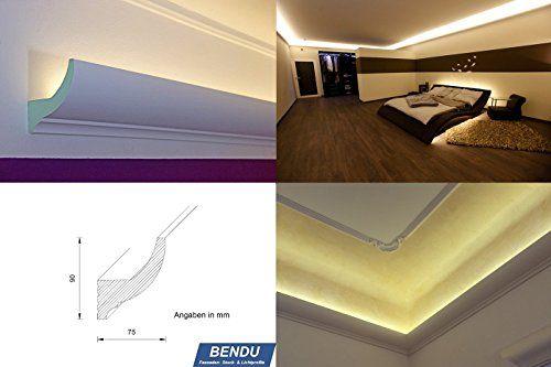 Vorgezogene Wand Indirekte Beleuchtung : Stuckleisten, Lichtprofil für indirekte LED Beleuchtung von Wand und
