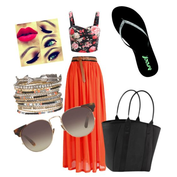 Our Coastal Outing by kidd-koko on Polyvore featuring polyvore fashion style Reef Athleta maurices Linda Farrow