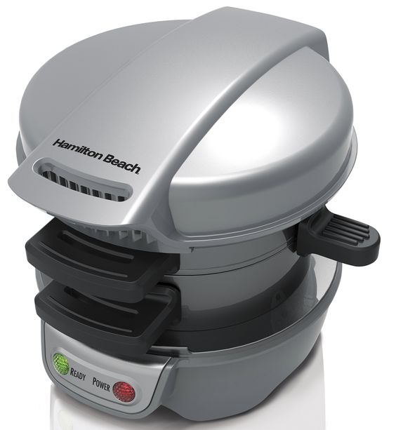 Hamilton Beach Breakfast Sandwich Maker Gray /  25475,    #Hamilton Beach Small Appliances
