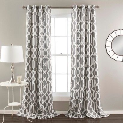 Edward Curtain Panels Room Darkening - Set of 2 - GREY
