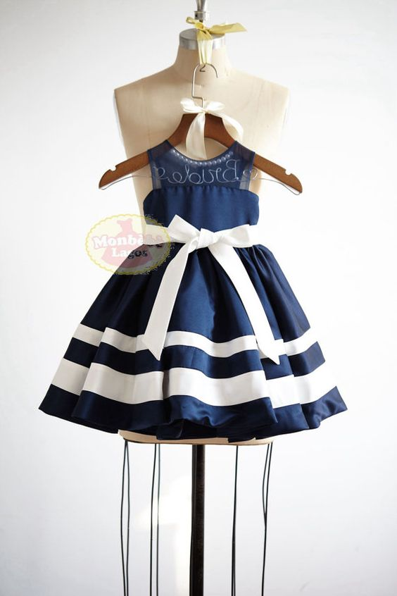 Voile tul raya del satén azul marino flor chica vestido Junior Dama de honor boda fiesta DressF0027 ONSALE