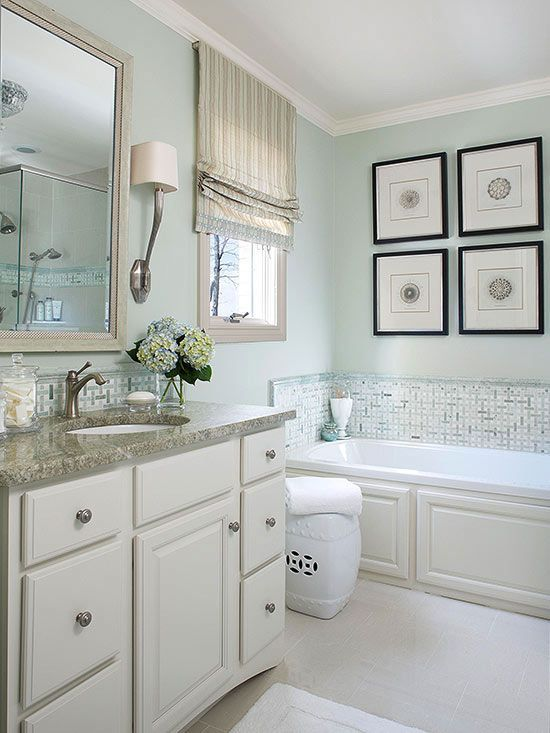 Create A Spa Like Retreat With The Coastal Aesthetic Of Soft Green Paint Colorscheme Bathro Green Bathroom Best Bathroom Paint Colors Small Bathroom Remodel